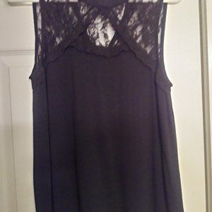 Most Famous Lacy Black trendy top